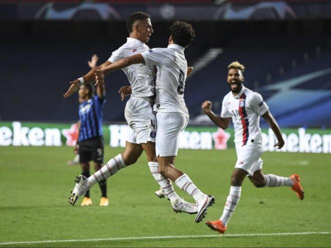 Eufòria entre els jugadors del PSG davant d'un final apoteòsic