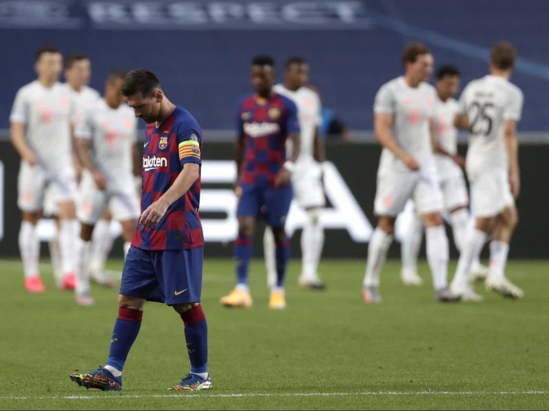 Messi, abatut ahir a Lisboa