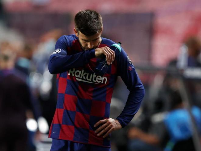Gerard Piqué va fer un discurs molt contundent quan va acabar el partit contra el Bayern