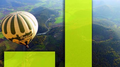 Descobrir la garrotxa dalt d'un globus.