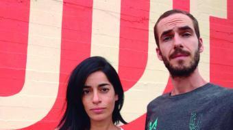 María López i Javier de Riba membres del col·lectiu Reskate, autors del cartell d'aquest any de la Mercè.