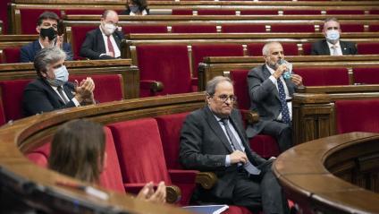 El president de la Generalitat, Quim Torra, en la primera jornada del debat de política general, dimecres passat