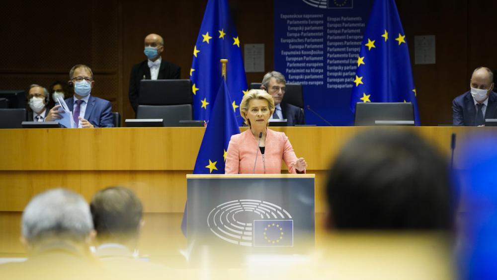 Ursula von der Leyen, en el discurs sobre l'estat de la Unió celebrat el 16 de setembre passat