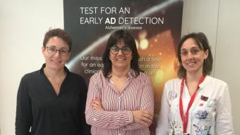 Marta Barrachina (centre), directora general d'Admit Therapeutics amb part del seu equip