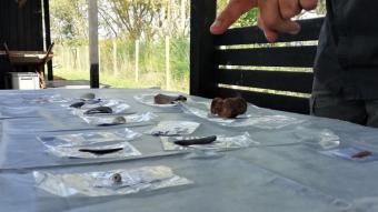 Alguns dels objectes desenterrats en aquesta campanya.