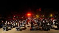 La protesta de Girona, on es van il·luminar de vermell la catedral i Sant Feliu