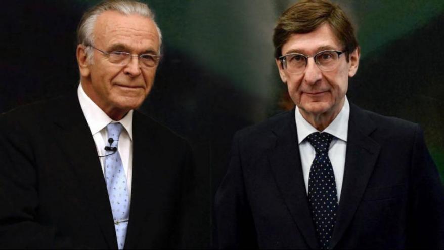 Isidre Fainé, president de la Fundació La Caixa, i Ignacio Goirigolzarri, conseller delegat de Bankia.