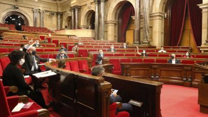 Imatge del ple del Parlament aquest divendres