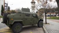 Exèrcit espanyol a l'hospital Parc Taulí