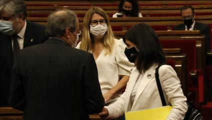 Vilalta, amb Artadi i el president Torra al Parlament