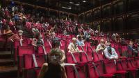 Un detall del Teatre Lliure, al 33%, en una funció del Festival Grec, aquest estiu