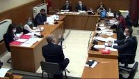 L'exconseller Felip Puig testificant ahir a l'Audiència de Barcelona en el judici del Cesicat