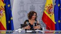 La portaveu María Jesús Montero