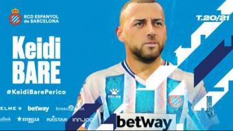 Keidi Baré serà presentat demà com a nou jugador de l'Espanyol.
