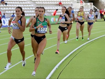 Esther Guerrero , a l'esquerre, passa pel millor moment de forma de la seva carrera