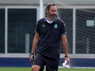 Vicente Moreno ha estat el gran protagonista de la prèvia del partit d'avui contra el Mallorca
