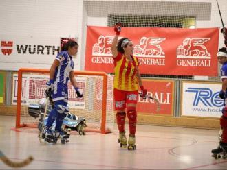 Gol del Manlleu en la lliga catalana