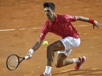 Novak Djokovic en la final de Roma