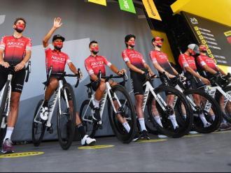 L'equip de l'Arkéa Samsic en el Tour