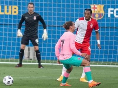 Mojica darrera de Griezmann en el duel contra el Barça, l'únic amistós en què ha participat el colombià