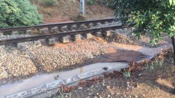 La via del tren descalçada a la Garriga.