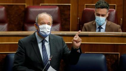 El ministre de Justícia, Juan Carlos Campo, ahir, durant la sessió de control al Congrés dels Diputats