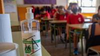 Un pot de gel a l'aula d'una escola de Girona