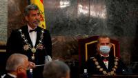 El president del Tribunal Suprem i del CGPJ, Carlos Lesmes, a principis de setembre amb el rei Felip VI