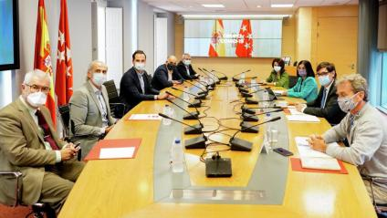 Primer reunió del Grup Covid-19 establert entre el govern espanyol i el de la COmunitat de Madrid per fer front a la pandèmia