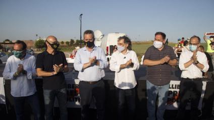 Rull, Romeva, Forn, Cuixart, Junqueras i Turull, el juliol passat, abans de tornar a ingressar a la presó de Lledoners