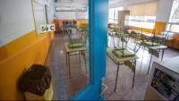 Imatge d'una aula buida en un centre de Girona