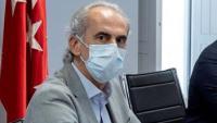 El conseller de Sanitat de la Comunitat de Madrid, Antonio Ruiz Escudero, ahir durant la reunió de treball del Grup Covid-19 de la Comunitat de Madrid