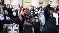 Protesta contra la decisió de la fiscalia de no imputar als policies la mort de Taylor