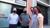 Els dirigents de l'ANC Elisenda Paluzie, David Fernández, Adrià Alsina i Jordi Ollé, davant la seu de l'entitat el passat 19 de setembre