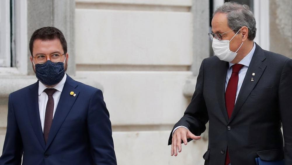 El vicepresident Pere Aragonès acompanyava el president Torra al Tribunal Suprem el passat dia 17