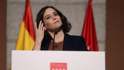 Isabel Díaz Ayuso, presidenta de la Comunitat de Madrid, el dia que va anunciar restriccions a 37 districtes