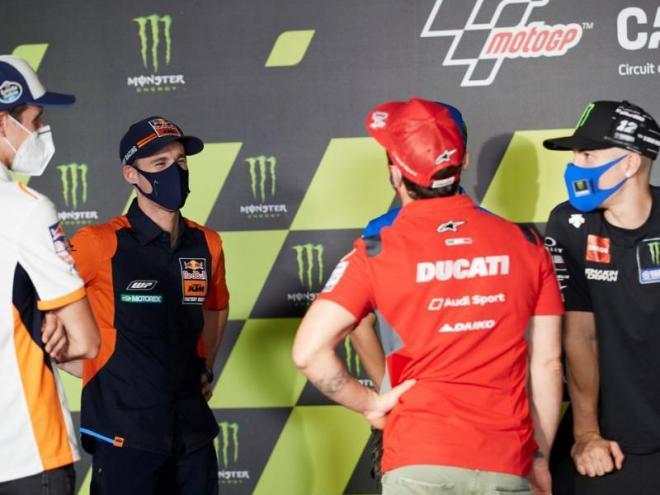 Àlex Márquez, Pol Espargaró, Andrea Dovizioso i Maverick Viñales en el Circuit Barcelona-Catalunya