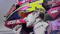 Tony Arbolino amb la gorra amb l'estelada en el GP de Catalunya