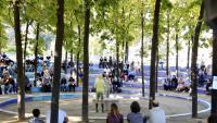 La companyia Parking Shakespeare, dissabte al parc de l'Estació del Nord