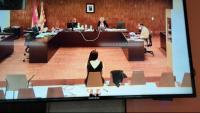 Tamara Carrasco declarant en la vista oral del judici que ha començat aquest dilluns