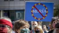 Manifestació contra la política d'immigració i asil de la UE, a Brussel·les