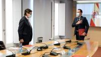 El ministre de Sanitat, Salvador Illa, i el conseller de Salut de la Comunitat de Madrid, Enrique Ruiz Escudero, en una reunió el 21 de setembre