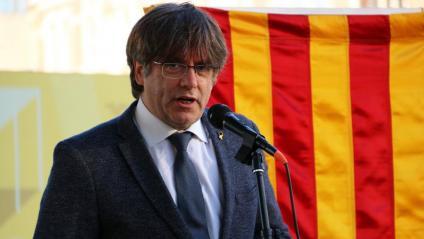 El president Puigdemont en una imatge de l'11 de setembre a Ambers