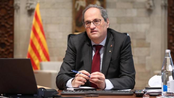 El president Torra, al Plau de la Generalitat