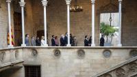 Declaració institucional al Palau de la Generalitat