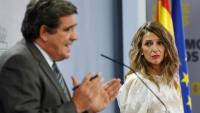 La ministra Díaz i el ministre Escrivá després del Consell de Ministres