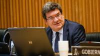 El ministre d'Inclusió, Seguretat Social i Migracions, José Luis Escrivá, durant la compareixença a la comissió de Treball del Congrés el 15 d'abril