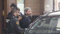 Jordi Ros, en el moment de ser detingut per la Guàrdia Civil, a casa seva, a Sabadell, el 23 de setembre del 2019
