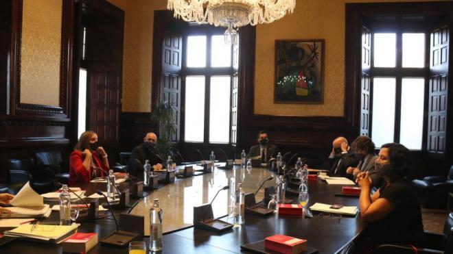 Reunió d'ahir de la mesa del Parlament per decidir amb relació al ple sobre la inhabilitació de Torra