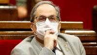 El president de la Generalitat, Quim Torra, en una de les seves últimes compareixences al Parlament abans de la seva inhabilitació
